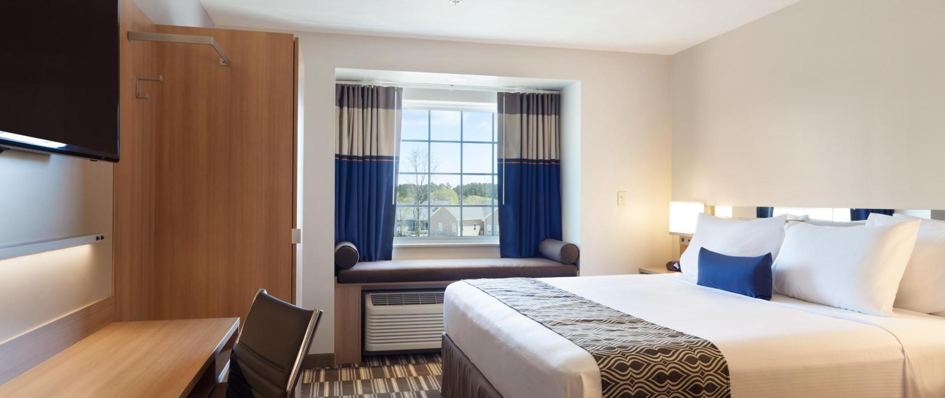 King Bed Hotel Room