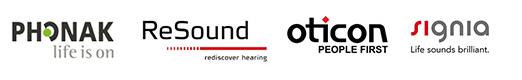 Four Major Hearing Aid Logos