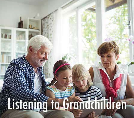 Test Hearing Aid at Home with Grandchildren