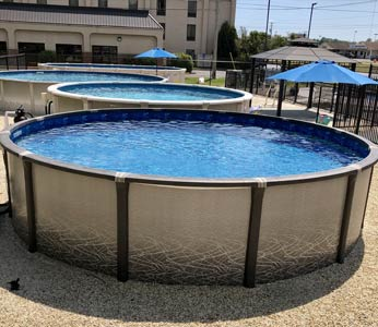Above-ground pool installation