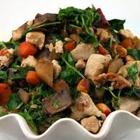 Mizuna Sauteed with Chicken