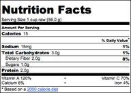 Mizuna Nutritional Facts