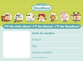 Vignette de la carte de membre du Club des Doudoux