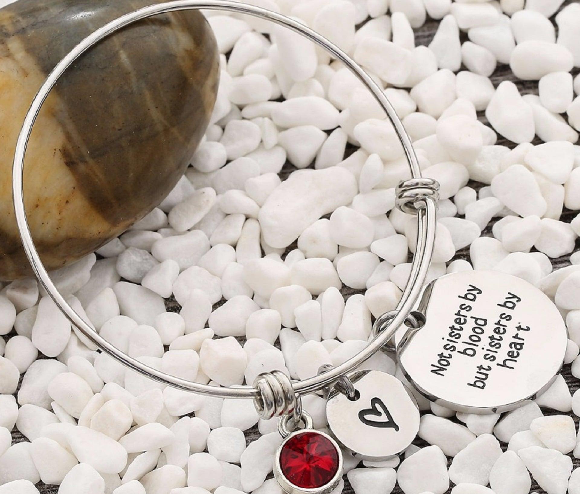 Best Friend Birthday Gift Birthstone Charm Bracelet