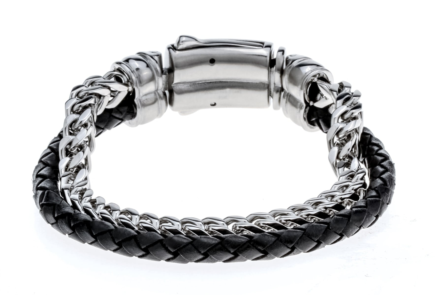 Men/'s Brown Leather Zinc Alloy Bracelet adjustable 6.5-8.5inch