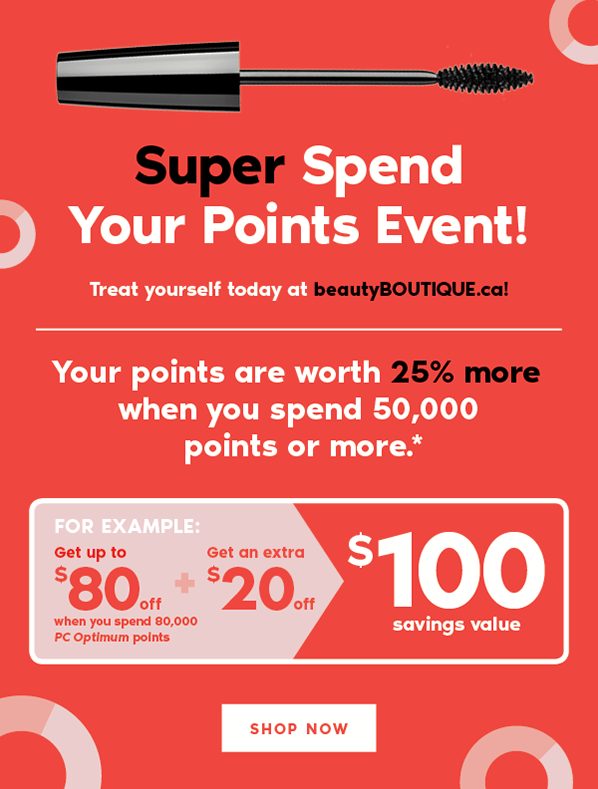 Ends Today - Super Spend Your Points Event