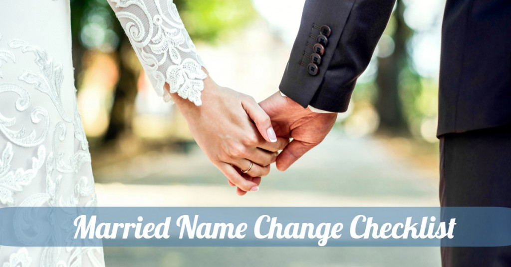 Married Name Change Checklist