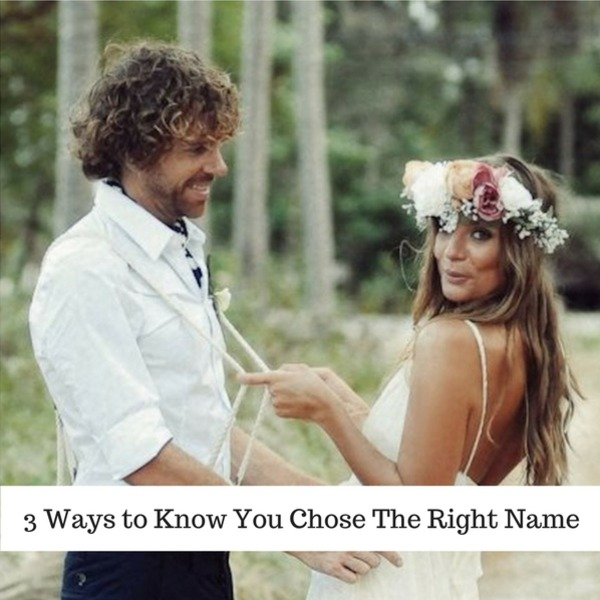 3 Ways to Know You Chose The Right Married Name