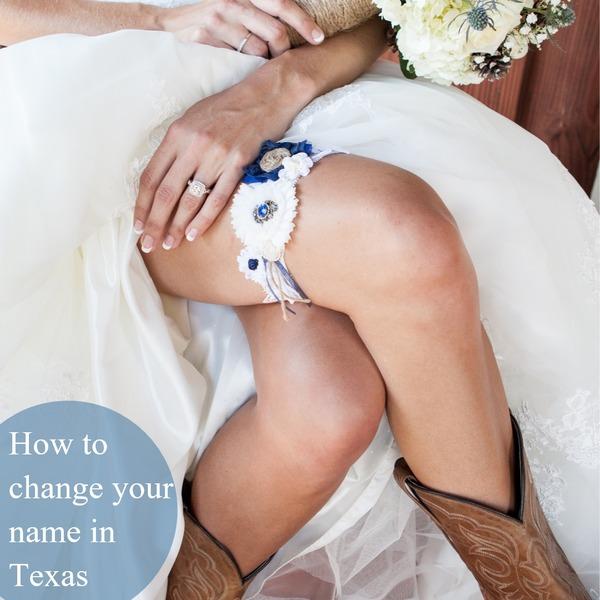 Texas Married Name Change