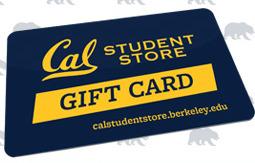 Display box, links to https://calstudentstore.berkeley.edu/merchandise/gift-cards