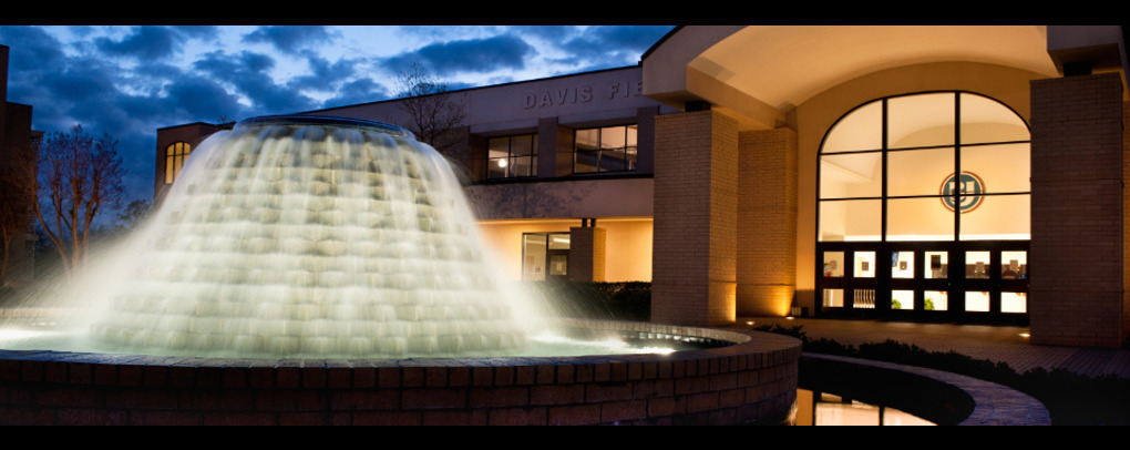 IMAGE OF DAVIS FIELD HOUSE FOUNTAIN AT BJU