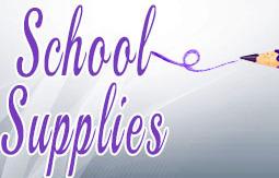 School supplies button
