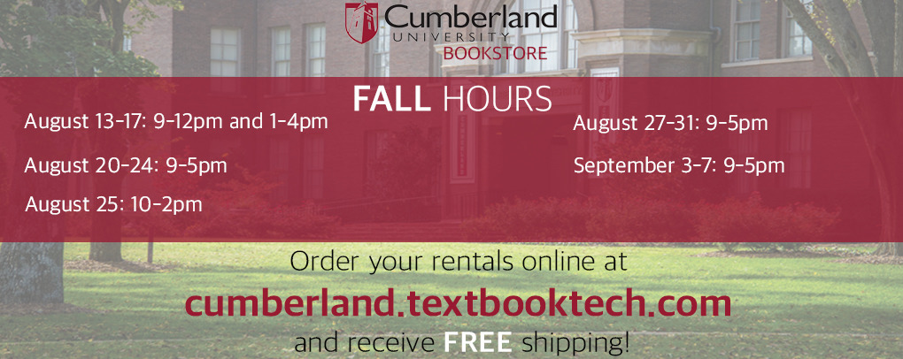 Cumberland website hours fall 2018
