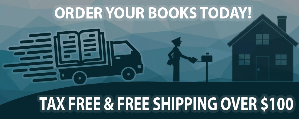 ORDER YOUR BOOKS TODAY! TAX FREE & FREE SHIPPING OVER $100