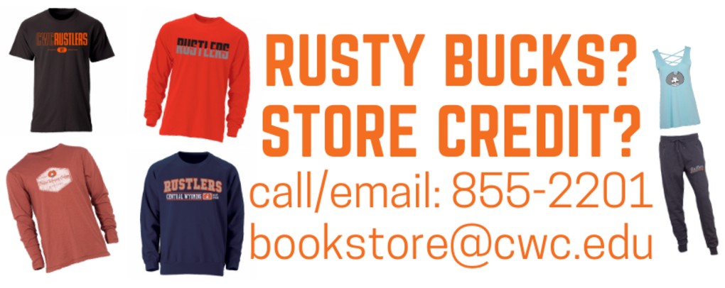 How to order with Rusty Bucks or Store Credit - Call or email the store!