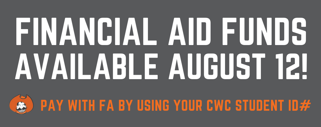 Financial Aid funds will be applied to new and existing orders on August 10! Order early!