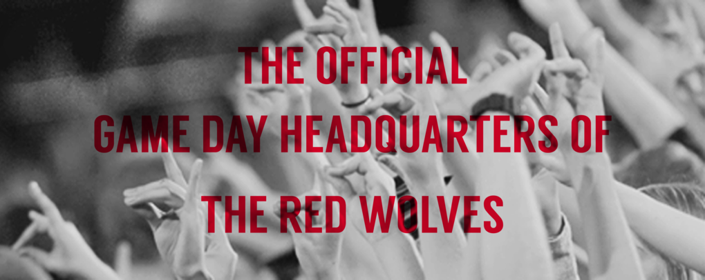 THE OFFICIAL GAME DAY HEADQUARTERS OF THE RED WOLVES