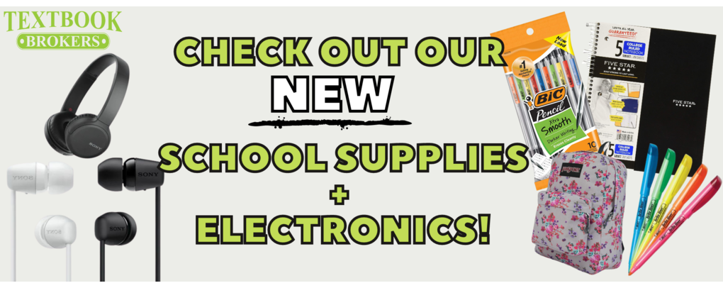 CHECK OUT OUR NEW ELECTRONICS AND SCHOOL SUPPLIES