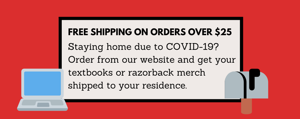 Free shipping on orders over $25! Staying home due to COVID-19? Order online and have your books or merchandise shipped to your residence.