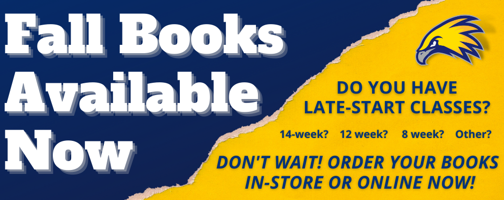Fall books available now. Do you have late starts? Don't wait! Shop in-store or online now!