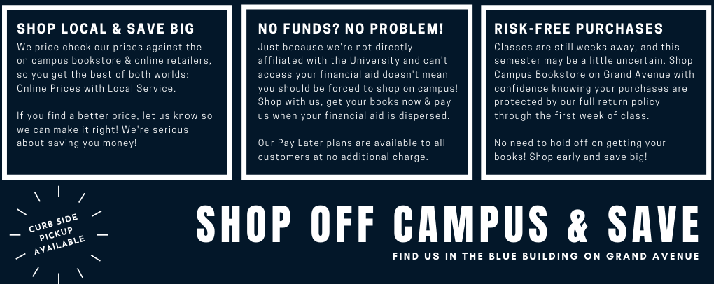 Shop off campus and save