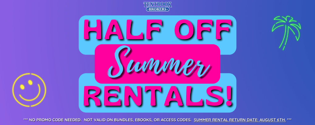 Summer textbooks are HALF OFF! Click here to begin shopping!