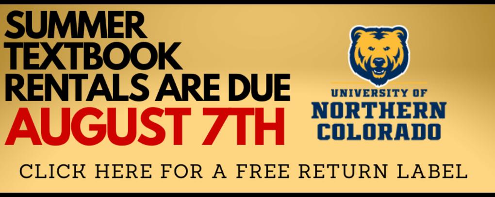 Summer rental books due August 7th.