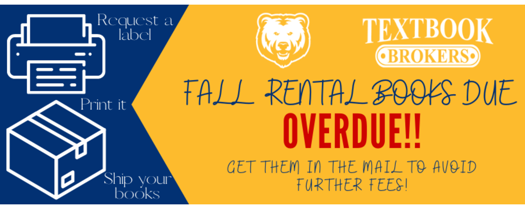 Fall Rental Books Are OVERDUE!.