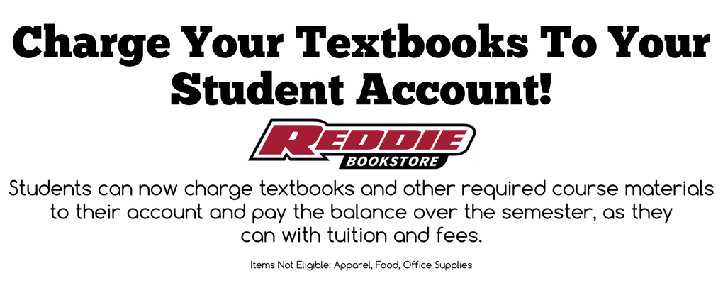 Charge your textbooks to your Student Account