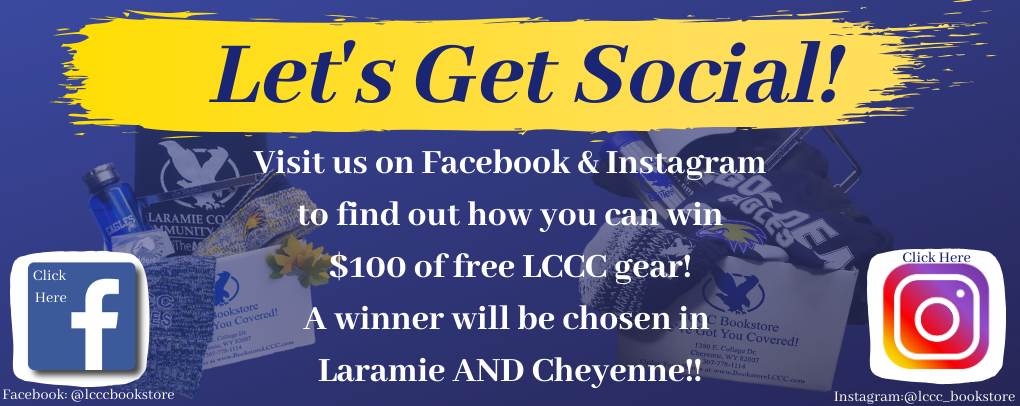 Visit us on Facebook and Instagram to find out how you can win over $100 off LCCC Gear!