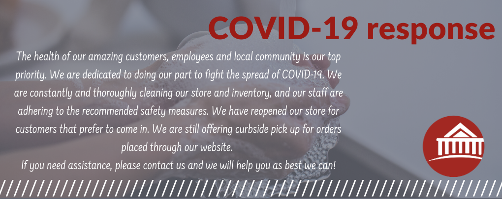 Shop our website while we are closed due to the Covid-19 outbreak.