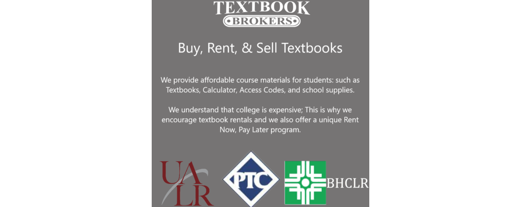 Buy, Rent, & Sell with Textbook Brokers