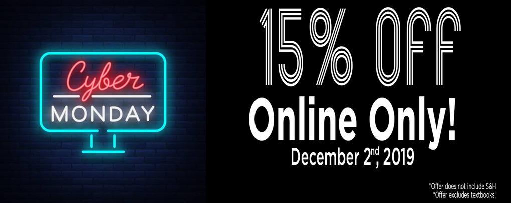 15% Cyber Monday Sale