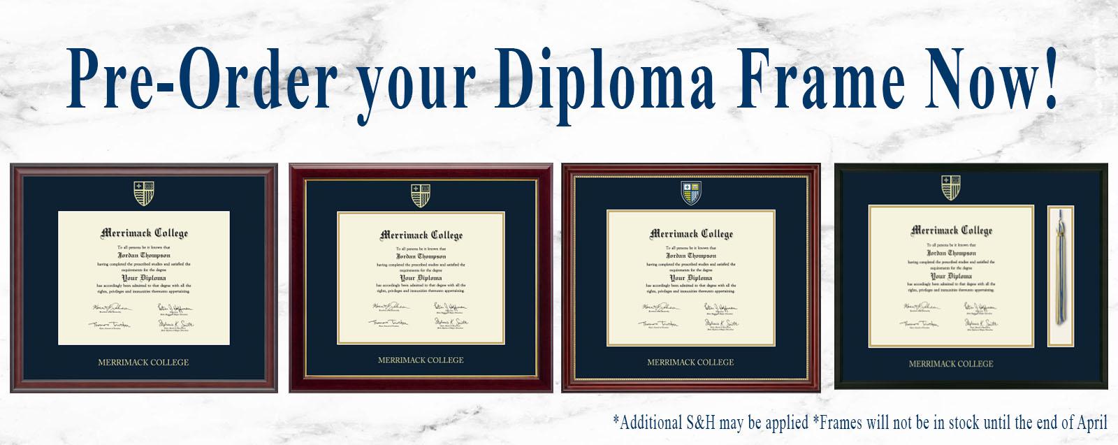Diploma frame slider