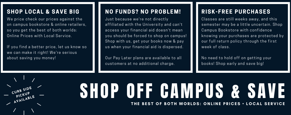 Shop off campus with confidence