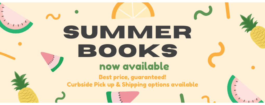 Summer Books Availabale May 4th