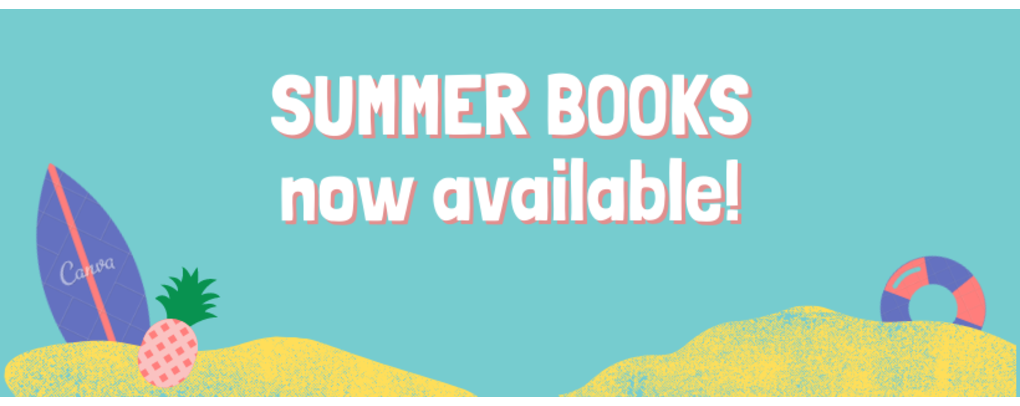 Summer books available May 7th