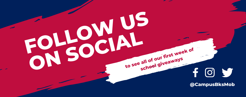 follow us on social media to see all of our back to school giveaways