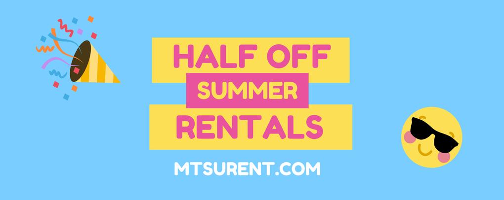 Half Off Summer Rentals