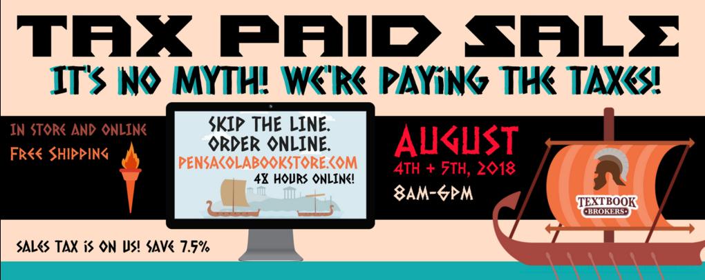Tax paid sale website banner