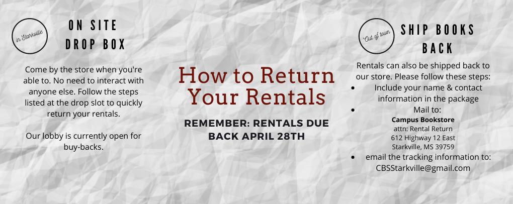 Rental Return Information