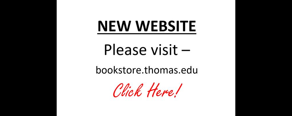 New Website - bookstore.thomas.edu