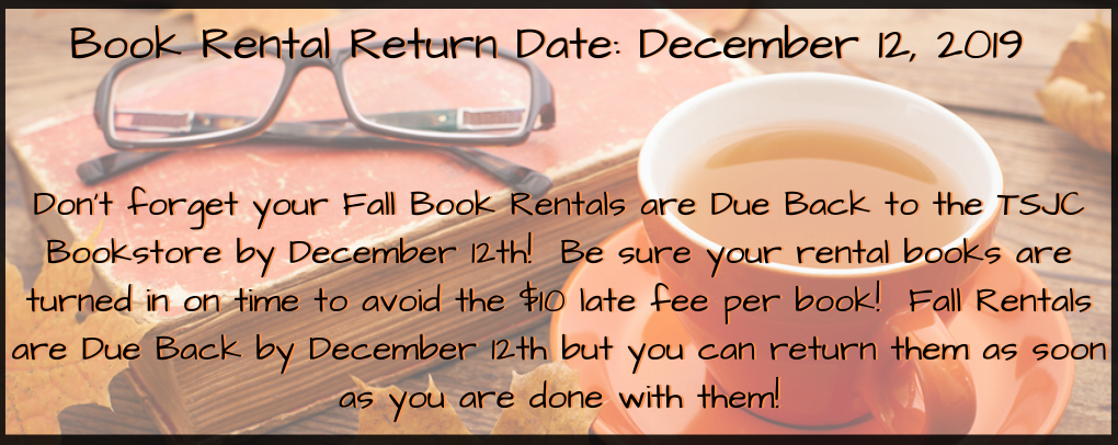 Book Rentals Due By December 12th