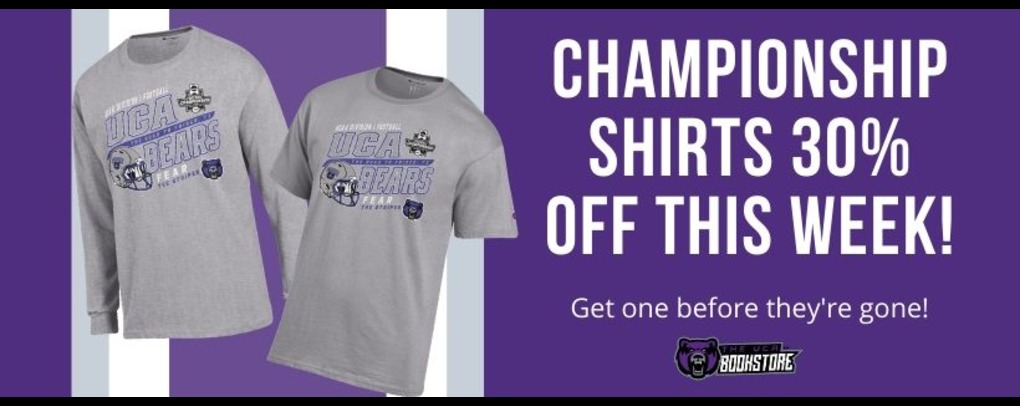 Championship shirt 30% off this week only