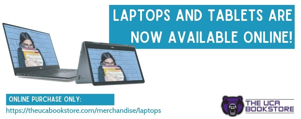 Banner image 0 links to https://theucabookstore.com/merchandise/laptops