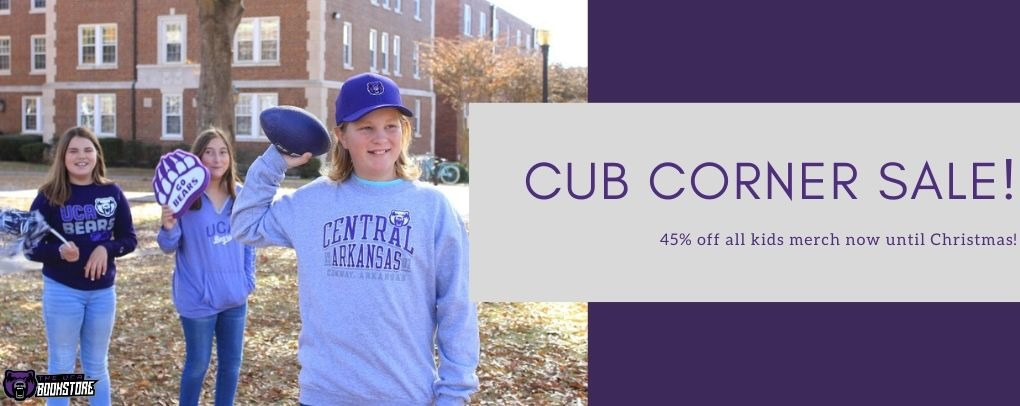 Cub Corner is now 45% off! Now until Christmas.