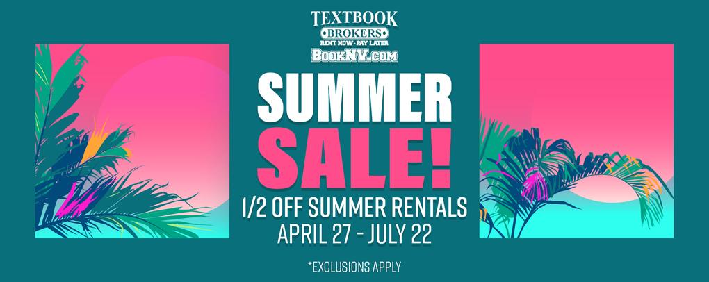 50% off all summer rentals!