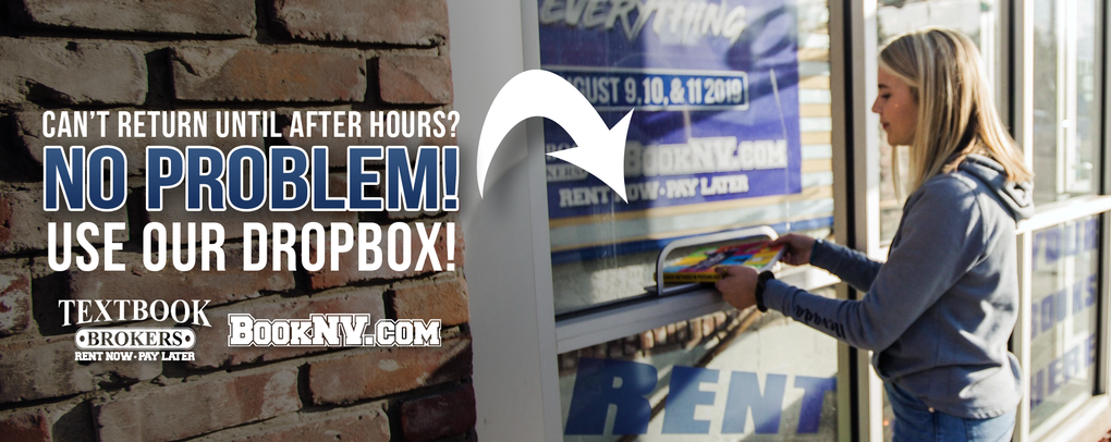 Can't return until after hours? No problem! Use our dropbox!