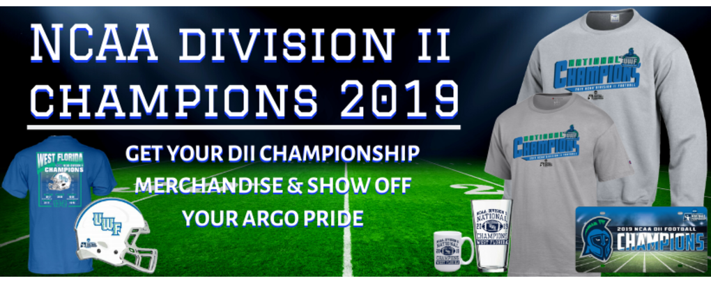 NCAA D2 CHAMPIONS 2019- GET YOUR NCAA D2 MERCHANDISE & SHOW OFF YOUR ARGO PRIDE