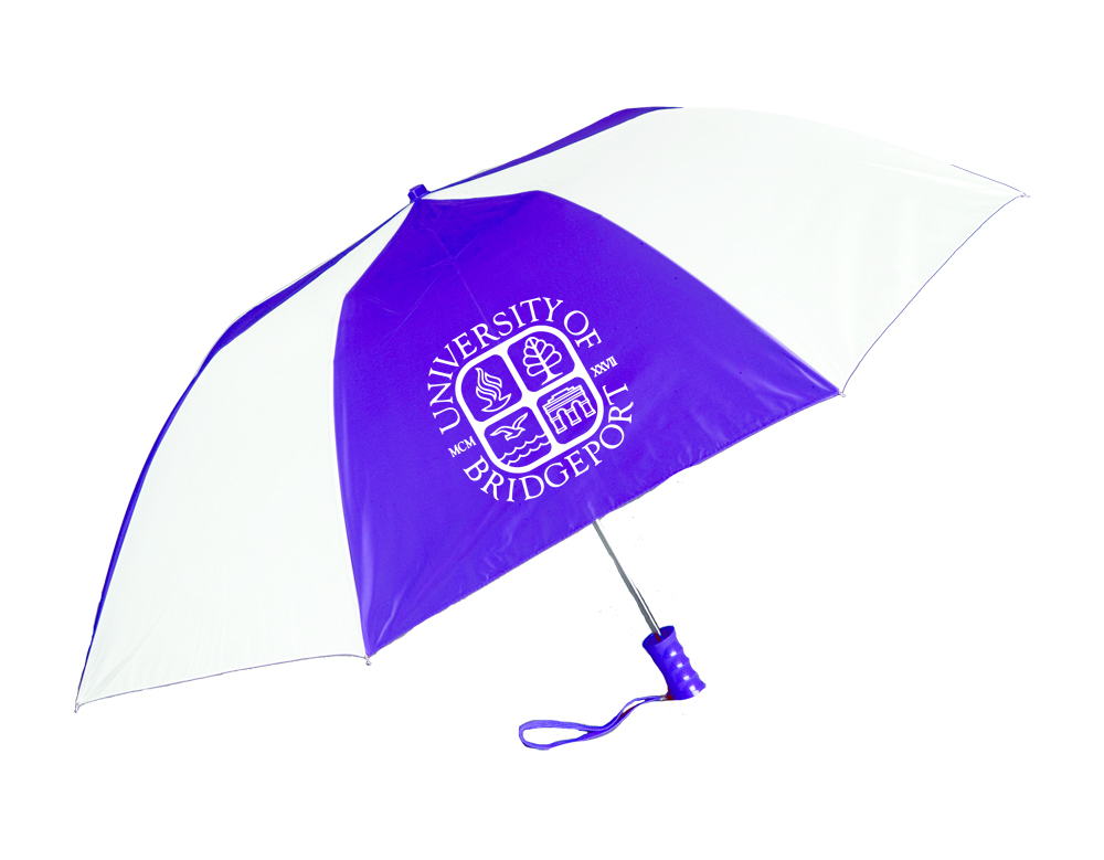 Umbrella - Purple & White